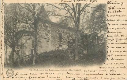 "CPA FRANCE 47 ""Chateau de Lasserre"""