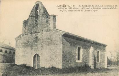 """CPA FRANCE 47 """"Lafosse, la chapelle du Chateau"""""""