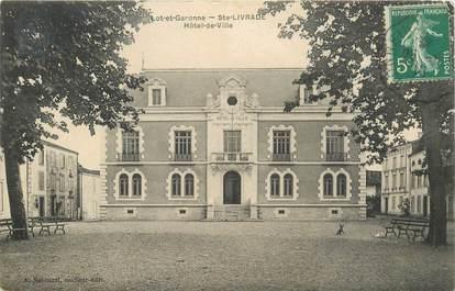 "CPA FRANCE 47 ""Sainte Livrade, Hotel de ville"""