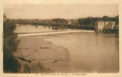 "CPA FRANCE 47 ""Aiguillon, le barrage"""