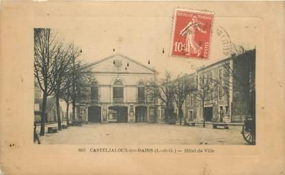 """CPA FRANCE 47 """"Casteljaloux les Bains, Hotel de ville"""""""
