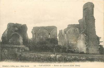 "CPA FRANCE 47 ""Gavaudun, ruines du Couvent"""