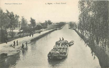 """CPA FRANCE 47 """"Agen, pont Canal"""""""
