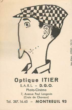 """CARTE PUBLICITAIRE / SURREALISME """"Montreuil (93), Optique ITIER"""""""