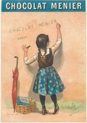 CARTE PUBLICITAIRE / CHOCOLAT MEUNIER