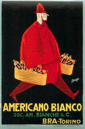 ETIQUETTE PUBLICITAIRE / ALCOOL / APERITIF AMERICANO BIANCO