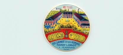 ETIQUETTE PUBLICITAIRE / CAMEMBERT FROMAGE / Le Renouard (61)
