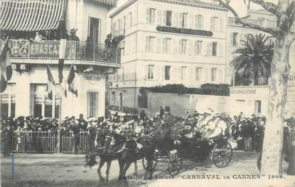 """CPA FRANCE 06 """"Cannes, Le Carnaval, Bataille de Fleurs, 1908"""""""