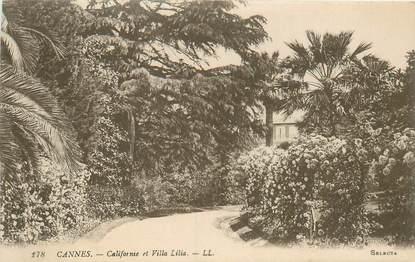 """CPA FRANCE 06 """"Cannes, villa Lilia"""""""