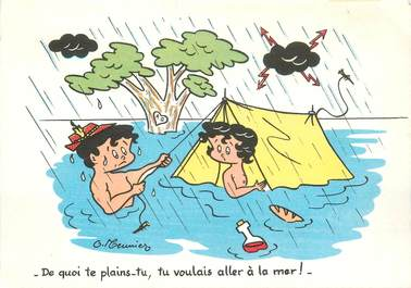 CPSM ILLUSTRATEUR MEUNIER G. / CAMPING