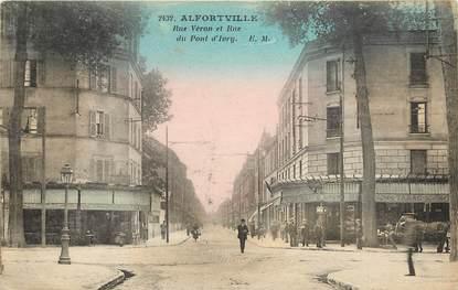 """CPA FRANCE 94 """"Alfortville, Rue Véron et rue du Pont d'Ivry"""""""