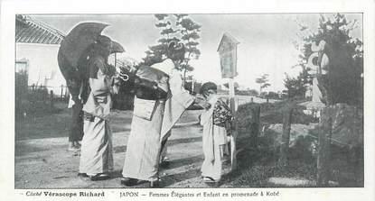 """CPA JAPON """"Femmes élégantes en promenade à Kobé"""""""