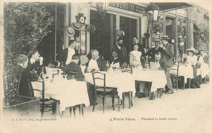 "CPA FRANCE 75 ""Paris Vécu, Restaurant"""