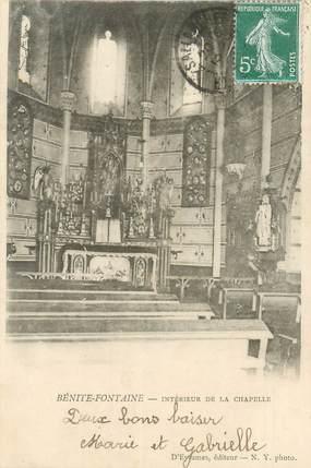 """CPA FRANCE 74 """"Bénite Fontaine, intérieur de la chapelle"""""""
