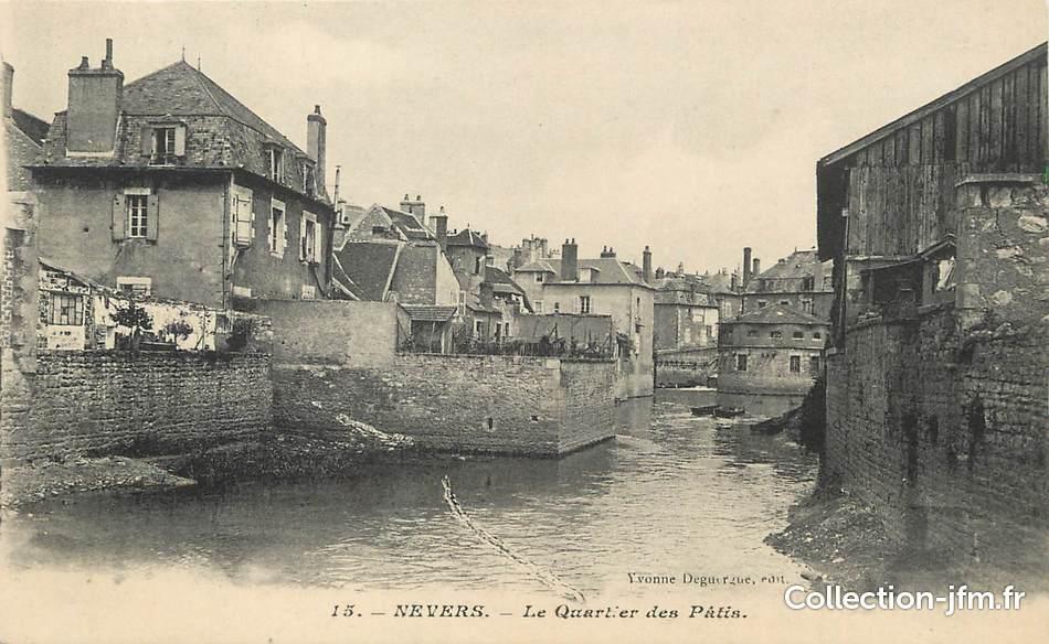 Cpa france 58 nevers le quartier des p tis 58 for Code postal de nevers