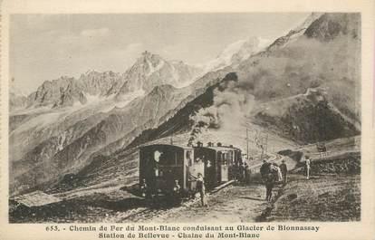 """CPA FRANCE 74 """"Chemin de fer du Mont Blanc et la glacier de Bionnassay"""""""