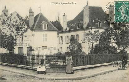 """/ CPA FRANCE 58 """"Cosne, square Gambon """""""
