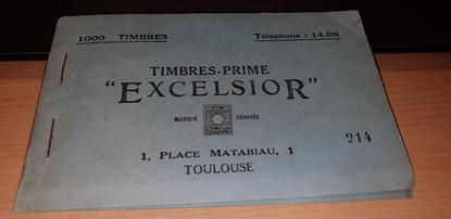 """RARE CARNET de 1 000 TIMBRES PRIME """"EXCELSIOR"""" / ETAT PROCHE DU NEUF / Toulouse (31)"""