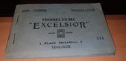 """Vieux Papier RARE CARNET de 1 000 TIMBRES PRIME """"EXCELSIOR"""" / ETAT PROCHE DU NEUF / Toulouse (31)"""