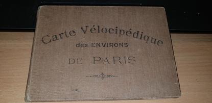 CARTE VELOCIPEDIQUE des environs de Paris
