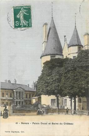 """/ CPA FRANCE 58 """"Nevers, palais Ducal et bains du château"""""""