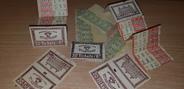 Vieux Papier LOT TICKETS DE BUS / PARIS 1933/34