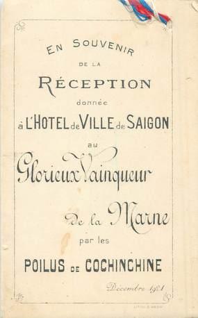LIVRET VIETNAM / Réception Saïgon, 1921
