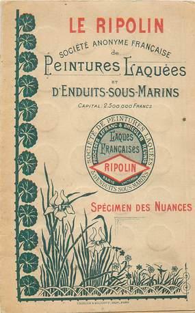 LIVRET PUBLICITAIRE PEINTURE RIPOLIN / SPECIMEN DE NUANCES