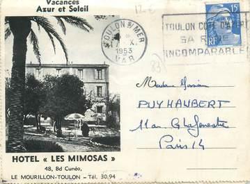 "CPA FRANCE 83 ""Toulon, Hotel les Mimosas"""