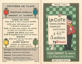 CARTE PUBLICITE / TAXI