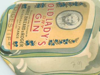 DOCUMENT en forme de bouteille PUBLICITAIRE / ALCOOL / MARIE BRIZARD
