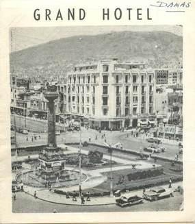 "CPA DEPLIANT SYRIE ""Damas, Grand Hotel"""