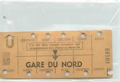 CARNET HEBDOMADAIRE / METRO GARE DU NORD
