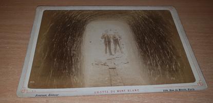 """PHOTOGRAPHIE FRANCE 74 """"Chamonix, Grotte du Mont Blanc"""""""