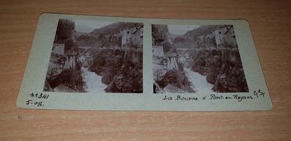 """PHOTOGRAPHIE STEREO FRANCE 26 """"La Bourne à Pont en Royans"""""""
