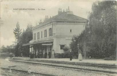 "CPA FRANCE 38 ""Pont de Beauvoisin, la Gare"""