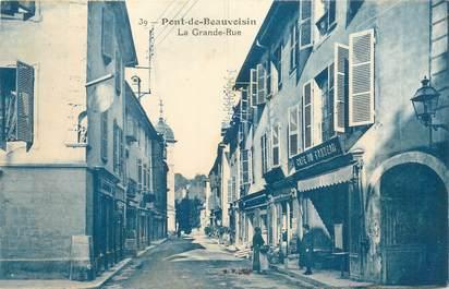 "CPA FRANCE 38 ""Pont de Beauvoisin, la grande rue"""