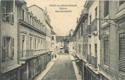 "CPA FRANCE 38 ""Pont de Beauvoisin, rue Gambetta"""