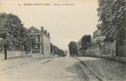 """CPA FRANCE 94 """"Boissy Saint Léger, Route de Villeneuve"""""""
