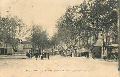 """CPA FRANCE 84 """"Cavaillon, monument Gambetta et cours Victor Hugo"""""""