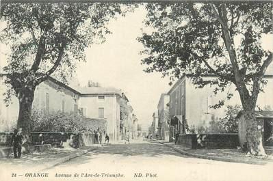 """CPA FRANCE 84 """"Orange, avenue de l'Arc de Triomphe"""""""