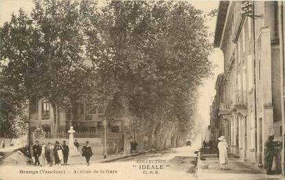 "CPA FRANCE 84 ""Orange, avenue de la gare"""
