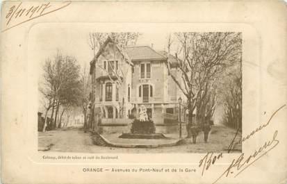 """CPA FRANCE 84 """"Orange, avenues du Pont Neuf et de la gare"""""""
