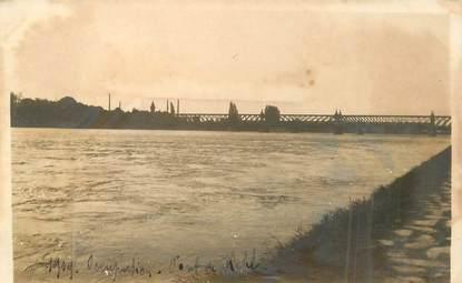 """CARTE PHOTO MILITAIRE """"1919, Occupation Kehl, pont de Kehl"""""""