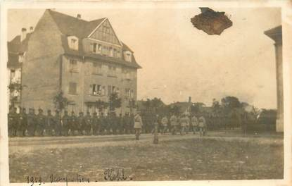 "CARTE PHOTO MILITAIRE ""1919, Occupation Kehl"""