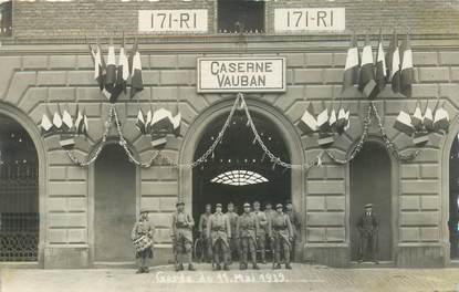 """CARTE PHOTO MILITAIRE """"Bitche (57), 1929, la Caserne Vauban"""""""
