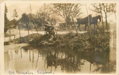 "CARTE PHOTO MILITAIRE ""1919, occupation"""