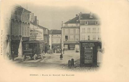 "/ CPA FRANCE 55 ""Stenay, place du marché"""