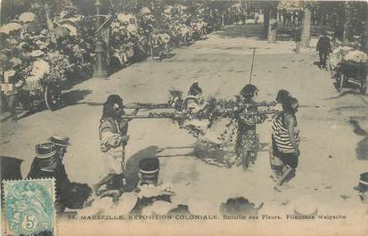 """CPA FRANCE 13 """"Marseille, Exposition Coloniale, 1906"""" / MADAGASCAR"""