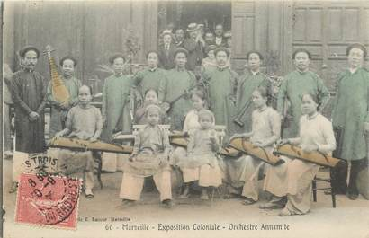 """CPA FRANCE 13 """"Marseille, Exposition Coloniale, 1906"""" / VIETNAM"""